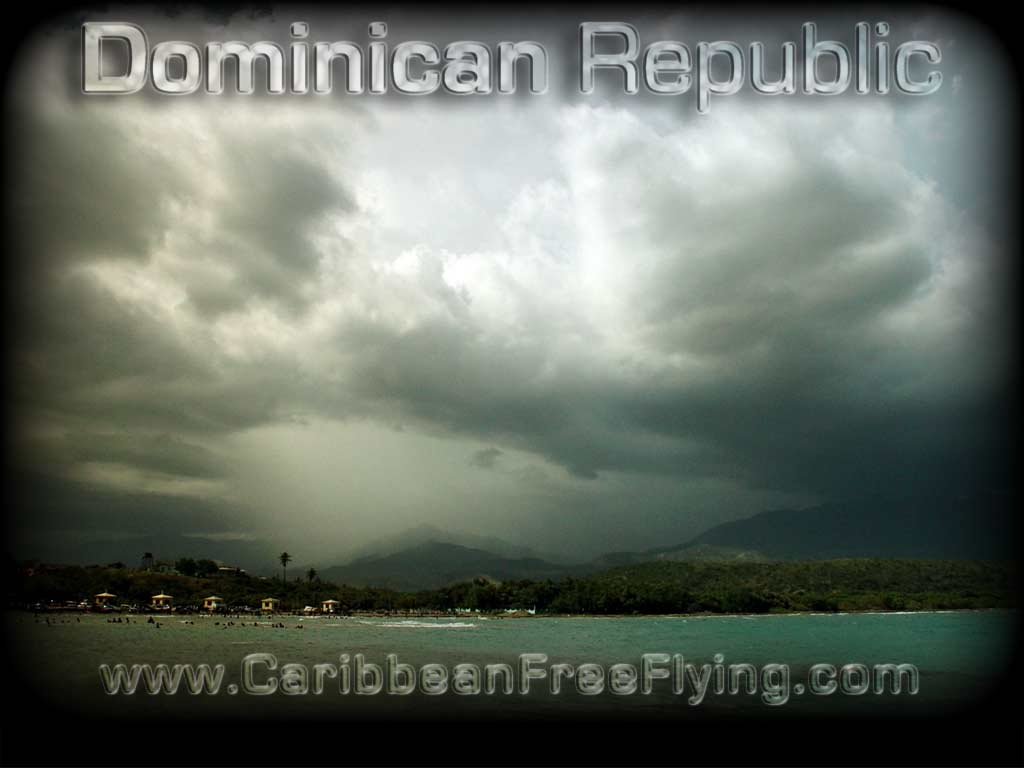 Storm over Azua seen from Monte Rio beach