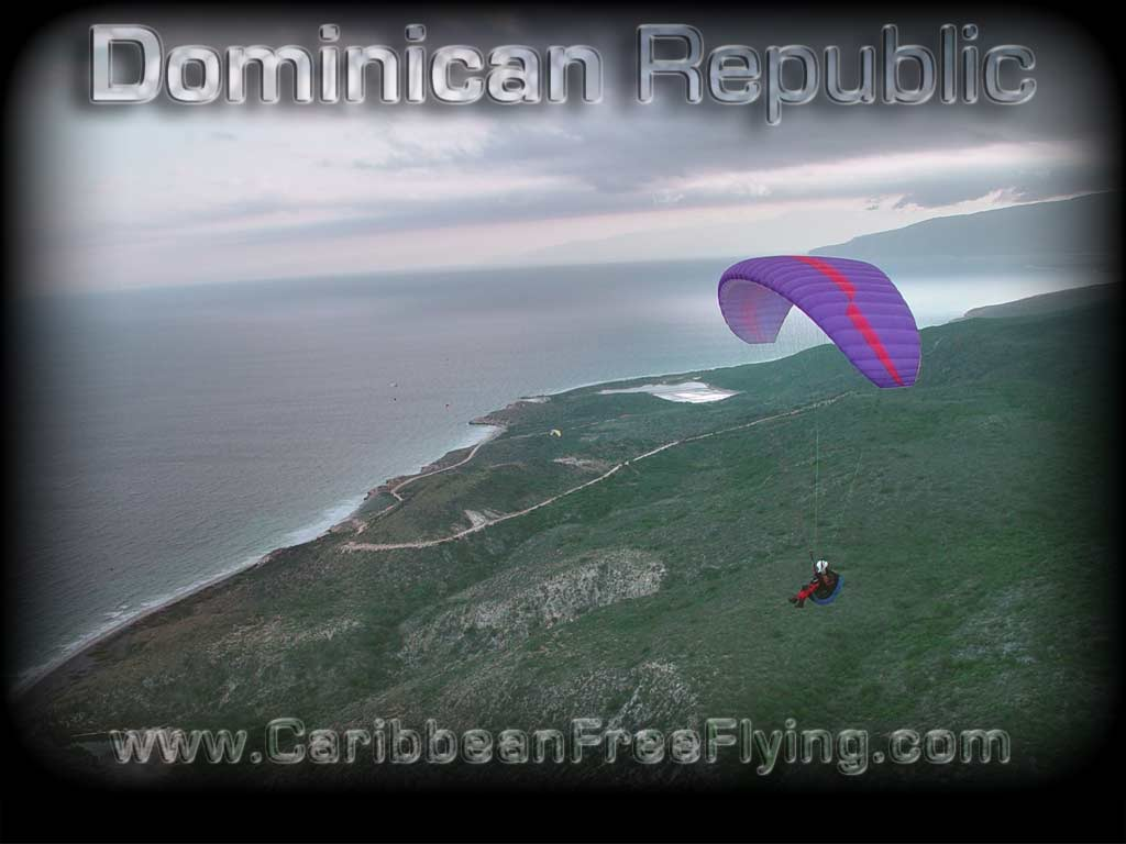 Evening soaring flight in La Playita, Azua