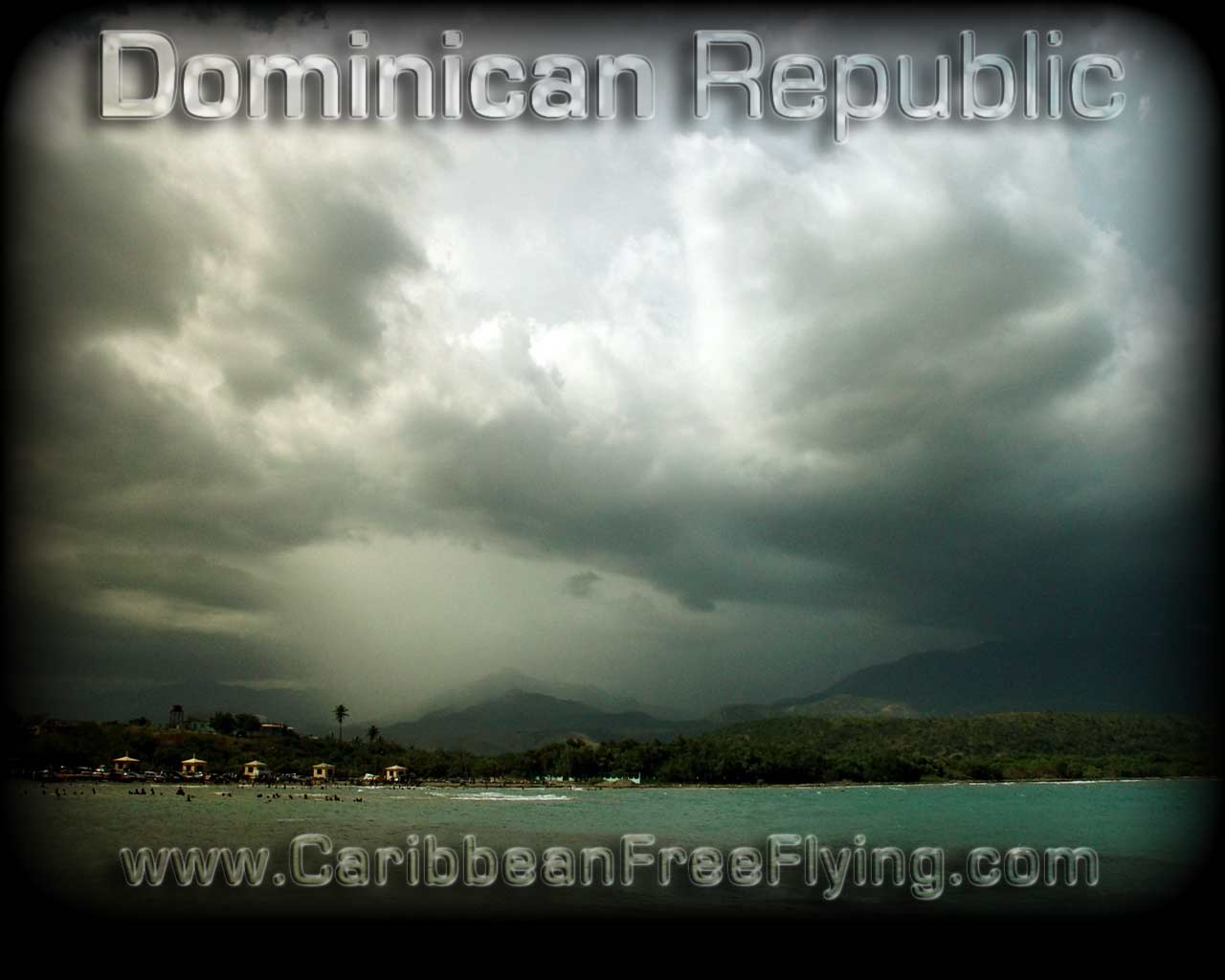 Storm over Azua seen from Monte Rio beach.