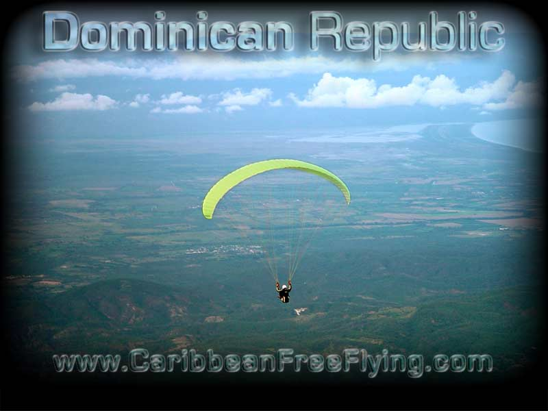 Gliding out from La Hoz, Barahona.